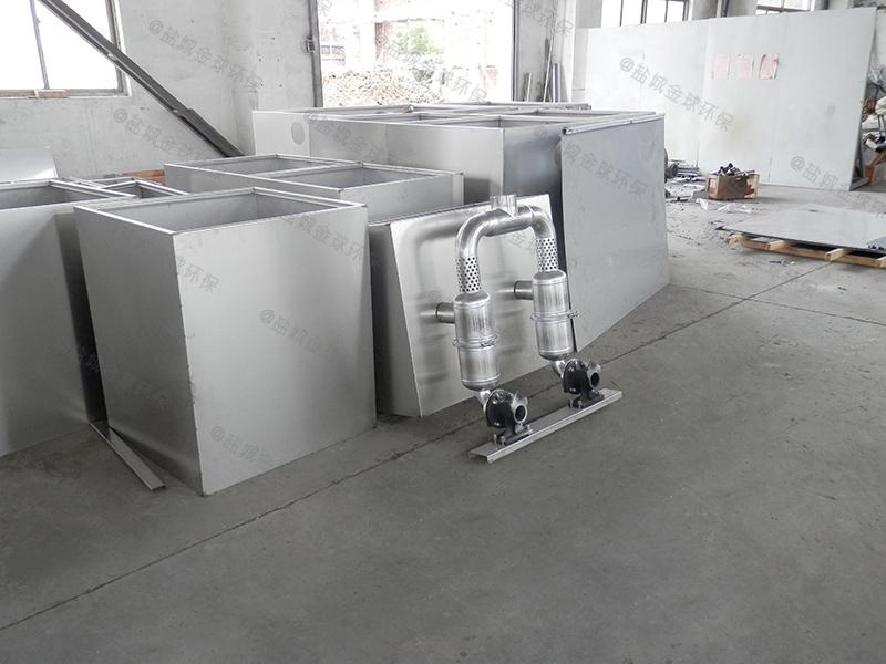 江西三級濾油隔油池排水示意圖