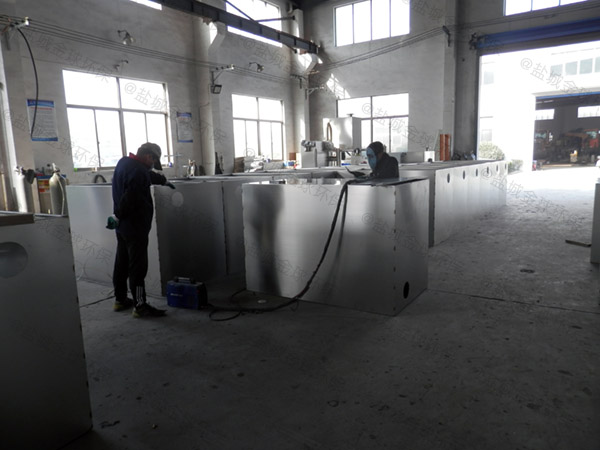 饭堂大型室内自动提升一体化隔油污水提升设备怎么安装图