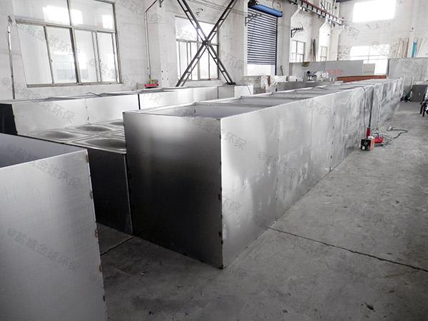购物中心地下式中小型分体式三仓式隔油池的原理图解