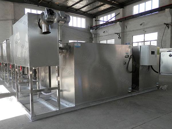 餐饮业地上式大自动排水油脂分离器方法