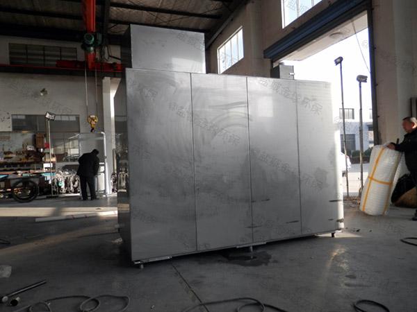 厨用大型地面式半自动油水分离器与隔油池规格型号及价格