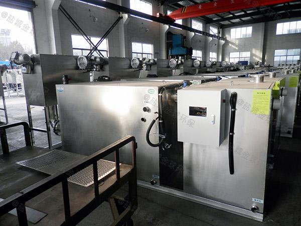 餐厅厨房大型地埋式半自动气浮式隔油设备什么原理
