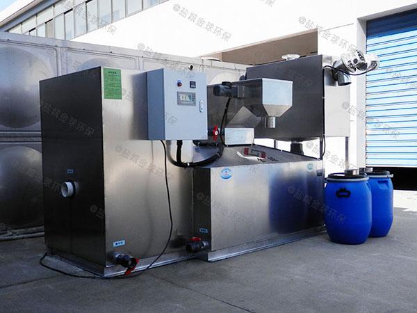 学校地埋式大型半自动排污油水分离器厂家价格