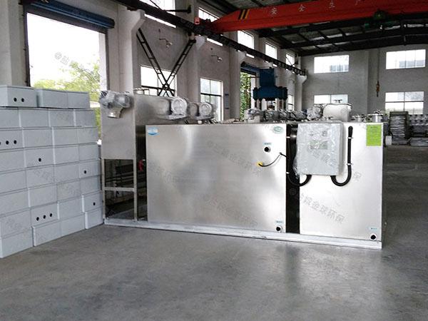 餐饮专用室内移动水与油分离机器的处理效率