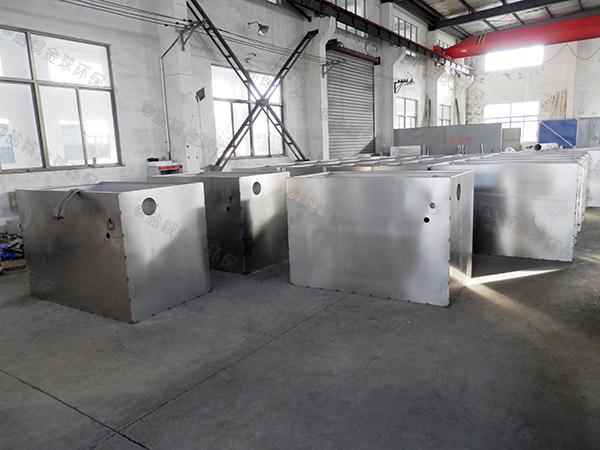 餐饮行业大型地下自动刮油水处理油水分离器作用