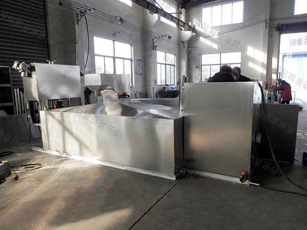 食堂用大型地面式自动刮油隔油提升一体化设备安装方案
