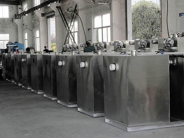商场餐饮室外大自动排水隔油池设备