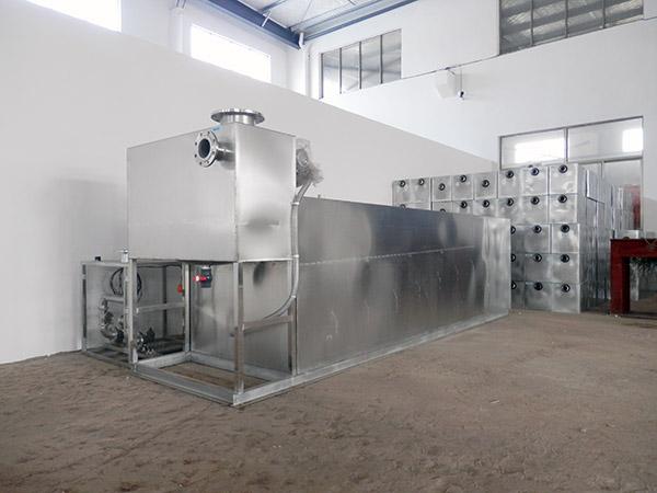厨房用地面式大型半自动污水处理油水分离设备种类