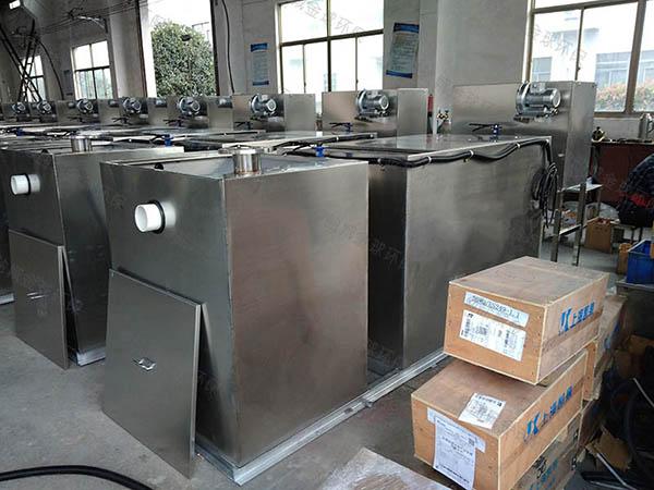 工地中小型地上式分体式隔油池自动刮油直销