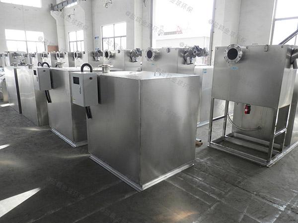 餐饮专用大型室内移动一体化油水分离装置厂家供应