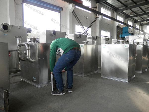 餐饮商户室外机械油水分离器和隔油池操作说明