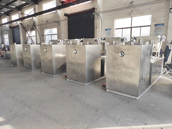 酒店地面式大型全自动隔油池提升一体化设备工艺流程