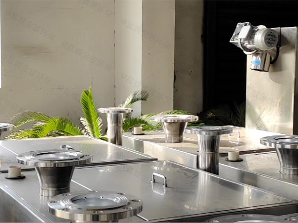 餐饮类大地下简单餐厨垃圾油水分离设备工作原理