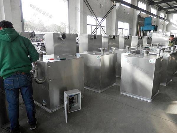 工厂食堂地面式分体式油水分离提升设备大样