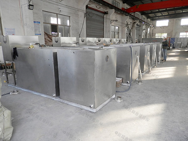 火锅店室外自动化污水隔油提升设备安装图