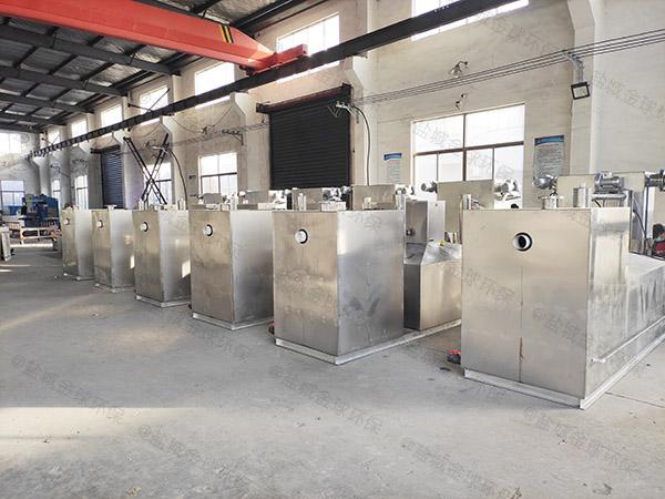 餐飲類大型地上組合式油水分離凈化器正確安裝
