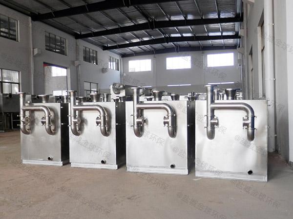 工廠食堂大型地下半自動一體式油水分離器的價格是多少錢一個