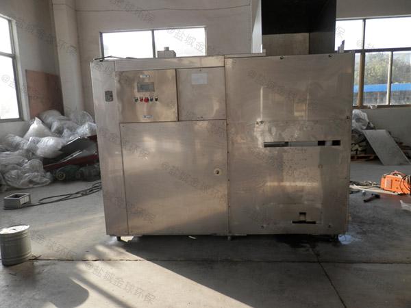 餐厅厨房地面式中小型自动除渣油水分离处理机器专营