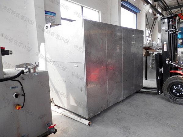 餐廳廚房地下式自動油水分離與處理設備圖