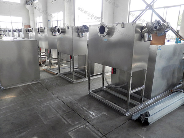 饭堂地上式无动力隔油成套设备大小