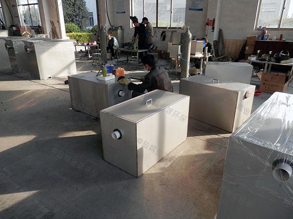 工厂食堂大地埋式全自动隔油污水提升设备的做法
