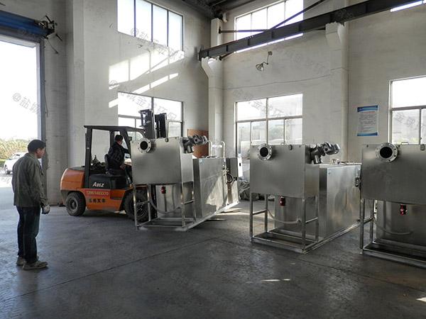 单位食堂室外大分体式不锈钢油水分离机制造