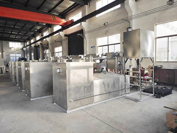 商用大型室外分體式隔油處理器操作
