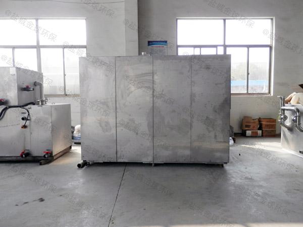 工地食堂室外大型無動力油水分離器提升設備怎么做