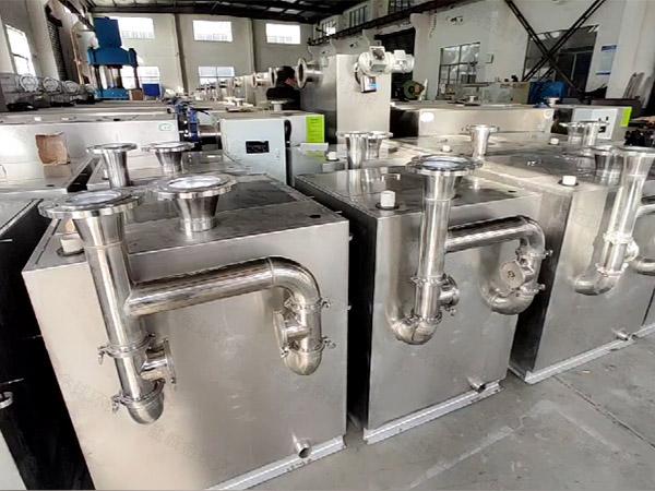 餐飲業大地埋全能型下水隔油設備的做法