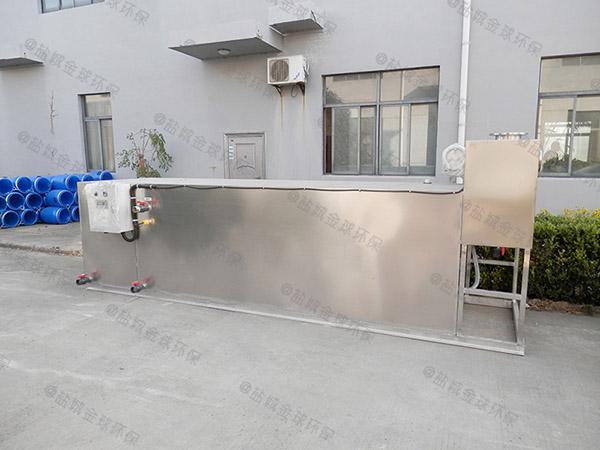 工廠食堂地上式大型自動除渣一體化油脂分離設備多少錢