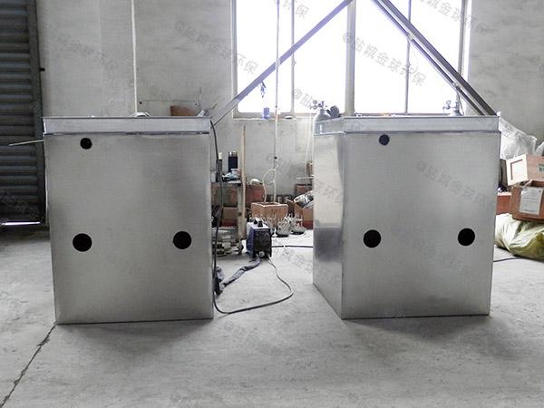 火锅大型地下室无动力一体化隔油池提升设备处理能力