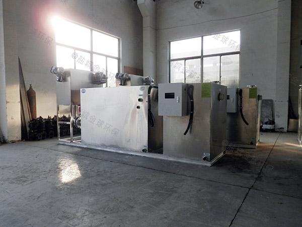 餐饮行业埋地式中小型全自动成品隔油处理器需要泵吗