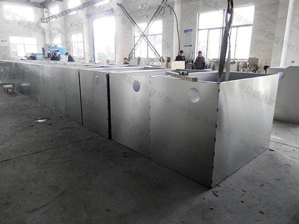 食堂用地面式大型全自動污水油水分離設備的作法