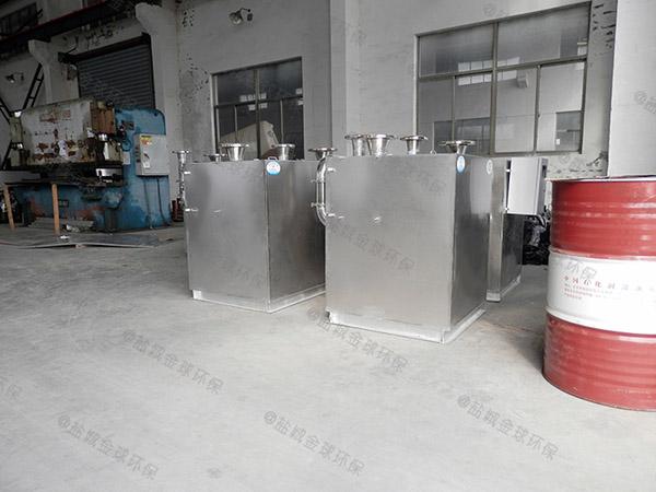 小飯店大型簡單餐廚垃圾油水分離設備處理效率