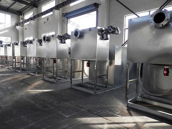 工地食堂中小型地上多功能隔油一体化设备的原理