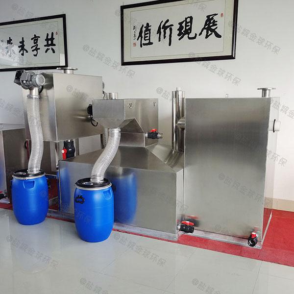 1000人厨房自动除渣不锈钢隔油池原理