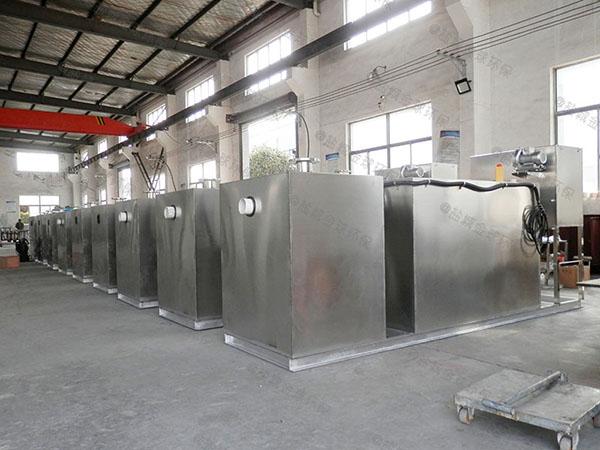3.1米*1.2米*1.85米饭店用自动刮油餐厨垃圾油水分离设备招商