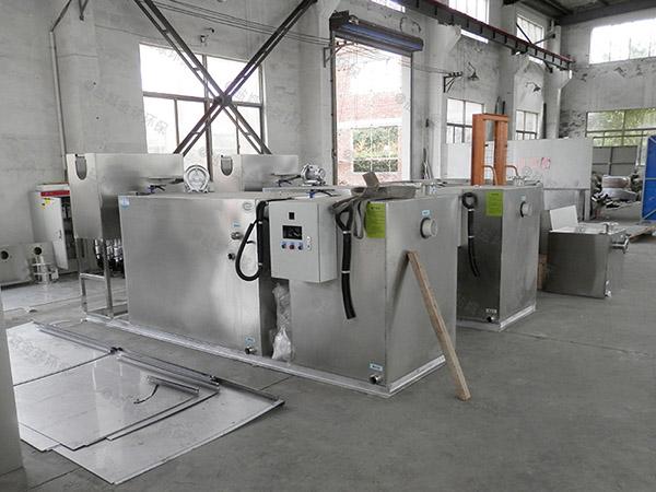 厨用30立方混凝土隔油提升设备一体化装置图