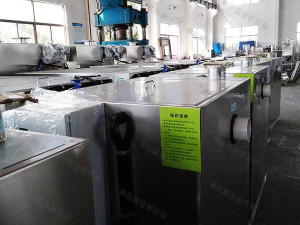 食堂用地上式半自动油污下水道分离器代加工