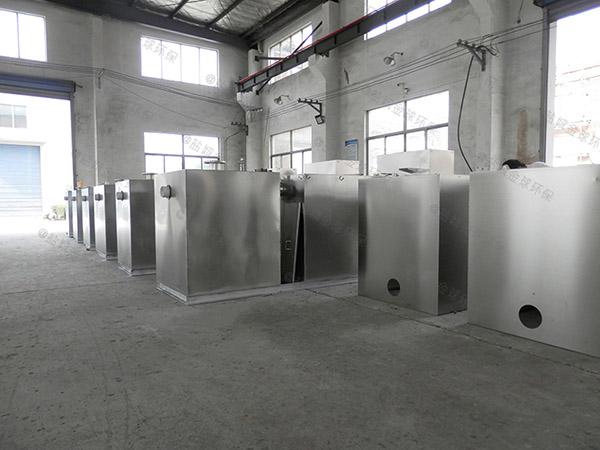 餐饮环保1000人隔油隔渣隔悬浮物隔油提升设备一体化装置简图