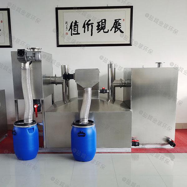 2.8米*1.2米*1.75米餐厨垃圾智能化油水分离设备处理效率