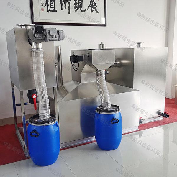 3.5米*1.35米*1.85米食堂全自动隔油提升设备尺寸