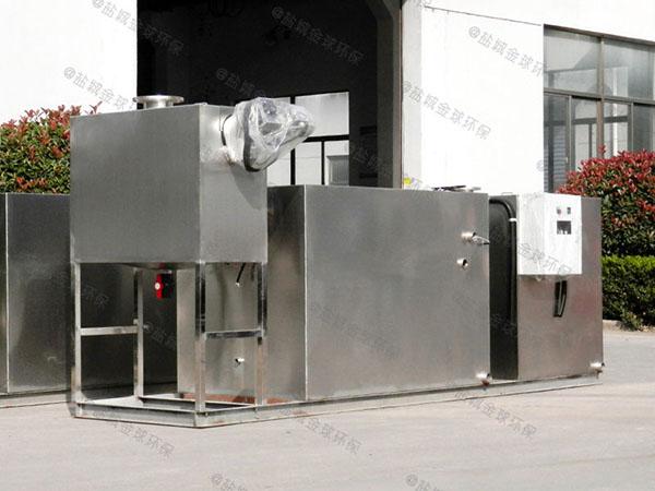 3.5米*1.35米*1.85米餐厨组合式油水处理器结构